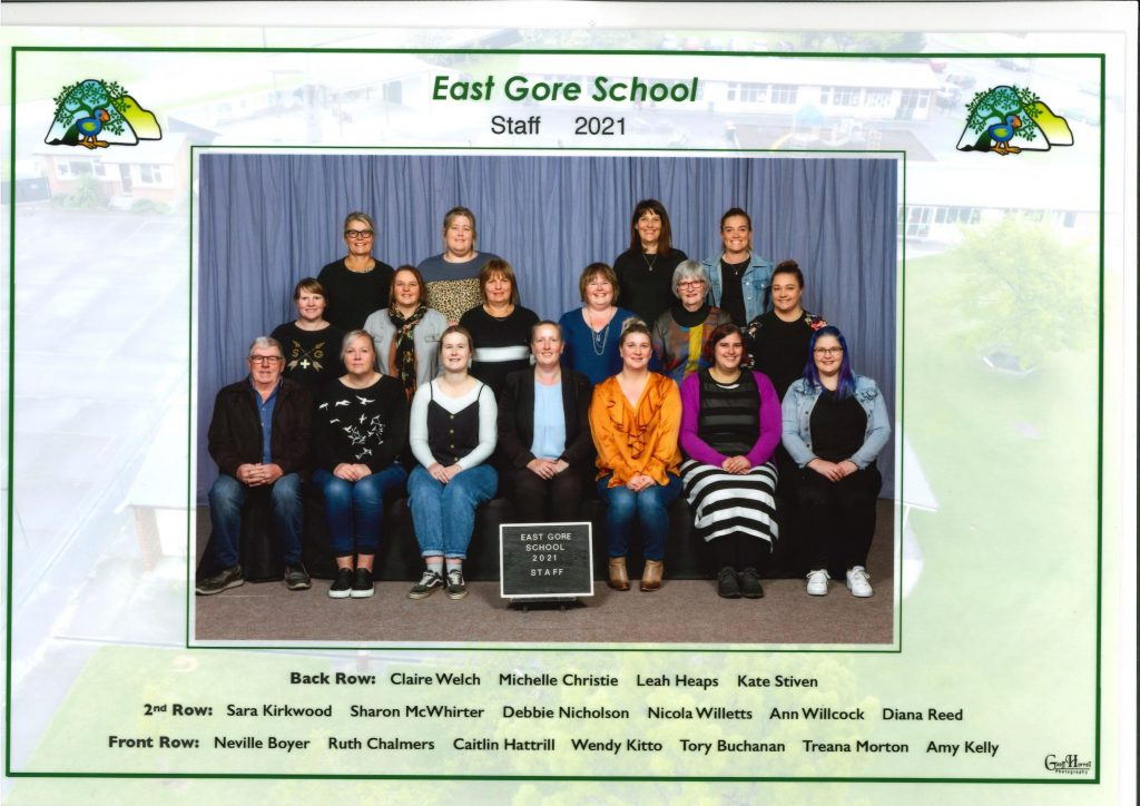 Our Staff, East Gore School